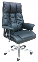 leather chair with synchronization tilting mechanism.